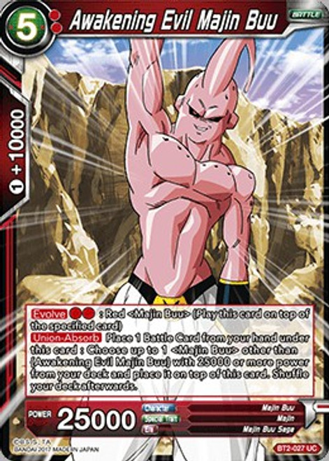 Dragon Ball Super Collectible Card Game Union Force Uncommon Awakening Evil Majin Buu BT2-027