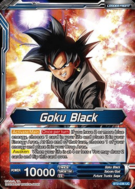 Dragon Ball Super Collectible Card Game Union Force Uncommon Goku Black / Goku Black, The Bringer of Despair BT2-036