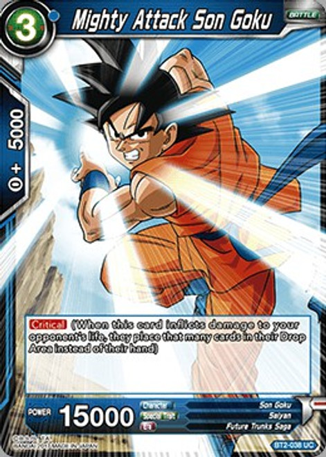 Dragon Ball Super Collectible Card Game Union Force Uncommon Mighty Attack Son Goku BT2-038