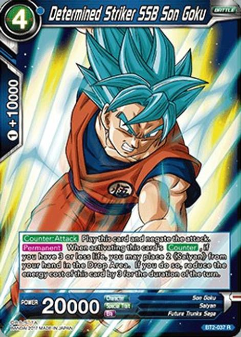 Dragon Ball Super Trading Card Game Union Force Rare Determined Striker SSB Son Goku BT2-037