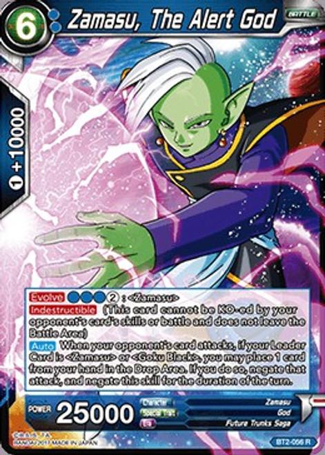 Dragon Ball Super Trading Card Game Union Force Rare Zamasu, The Alert God BT2-056