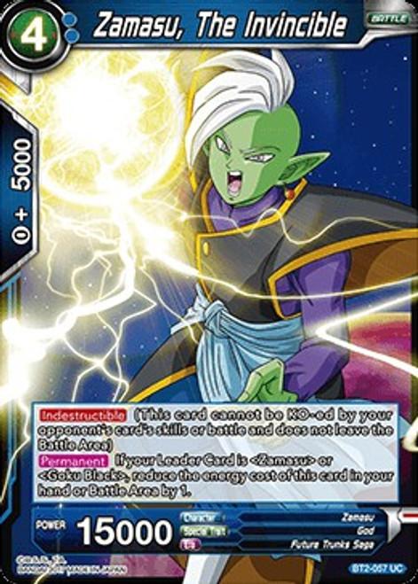 Dragon Ball Super Collectible Card Game Union Force Uncommon Zamasu, The Invincible BT2-057