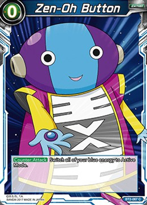 Dragon Ball Super Trading Card Game Union Force Common Zen-Oh Button BT2-067
