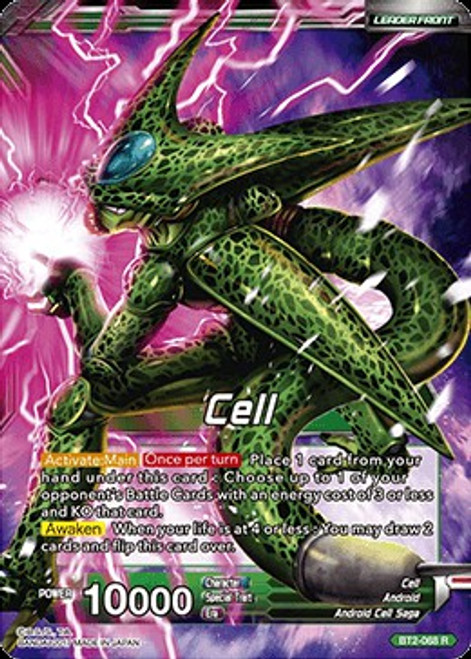 Dragon Ball Super Collectible Card Game Union Force Rare Cell / Ultimate Lifeform Cell BT2-068