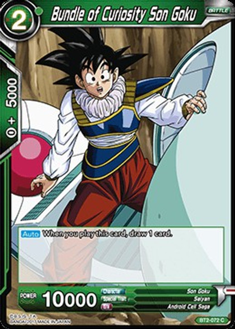 Dragon Ball Super Collectible Card Game Union Force Common Bundle of Curiosity Son Goku BT2-072