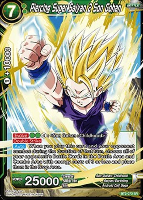 Dragon Ball Super Collectible Card Game Union Force Super Rare Piercing Super Saiyan 2 Son Gohan BT2-073