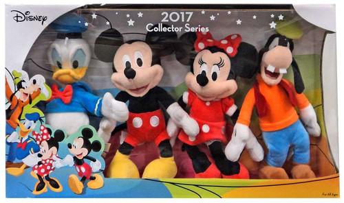 Disney 2017 Collector Series Donald, Mickey, Minnie & Goofy 8.5-Inch Plush 4-Pack Set
