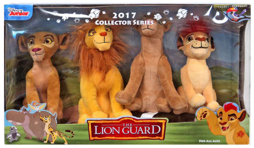 Disney The Lion Guard 2017 Collector Series Simba, Nala, Kion & Kiara 6.5-Inch Plush Set