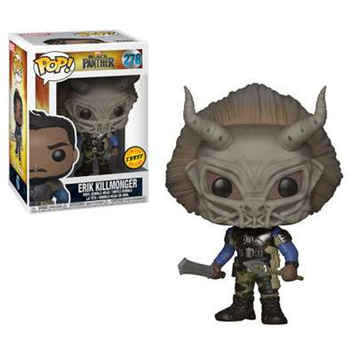 Funko Marvel Universe Black Panther POP! Marvel Erik Killmonger Vinyl Figure #278 [Masked, Chase Version]