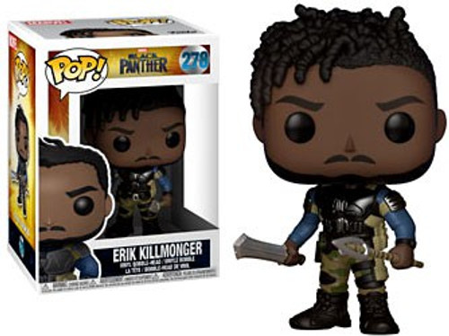 Funko Marvel Universe Black Panther POP! Marvel Erik Killmonger Vinyl Figure #278 [No Mask, Regular Version]