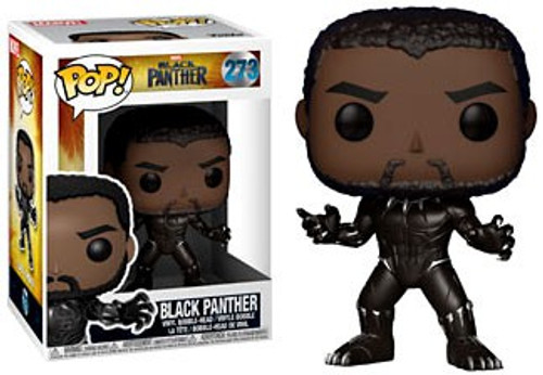 Funko Marvel Universe POP! Marvel Black Panther Vinyl Figure #273 [Unmasked, Regular Version]