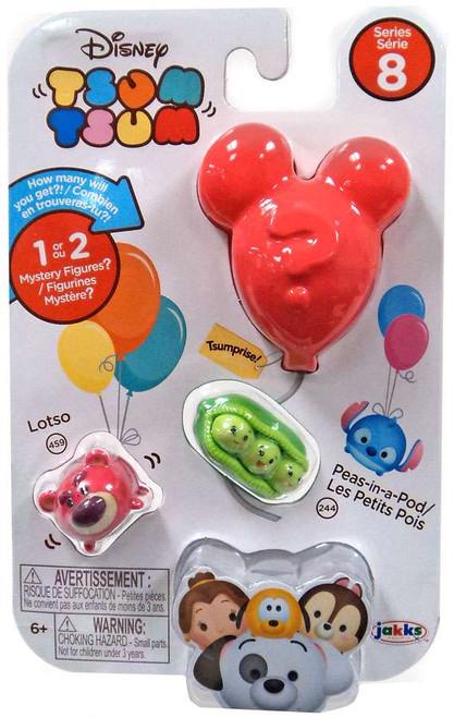 Disney Tsum Tsum Series 8 Lotso & Peas-in-a-Pod 1-Inch Minifigure 3-Pack #459 & 244
