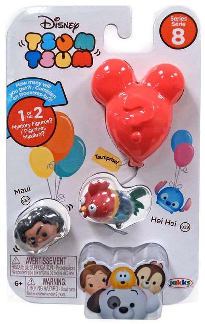 Disney Tsum Tsum Series 8 Maui & Hei Hei 1-Inch Minifigure 3-Pack #832 & 829