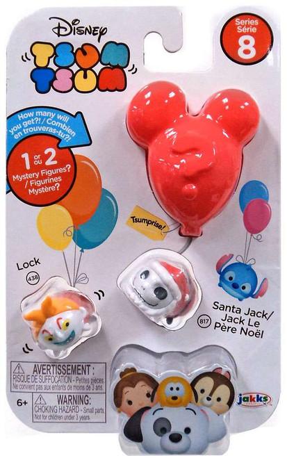 Disney Tsum Tsum Series 8 Lock & Santa Jack 1-Inch Minifigure 3-Pack #438 & 817