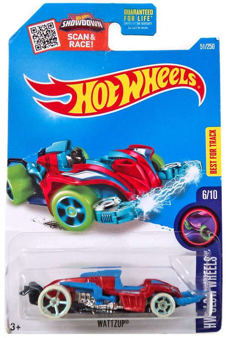 Hot Wheels HW Glow Wheels Wattzup Diecast Car #6/10
