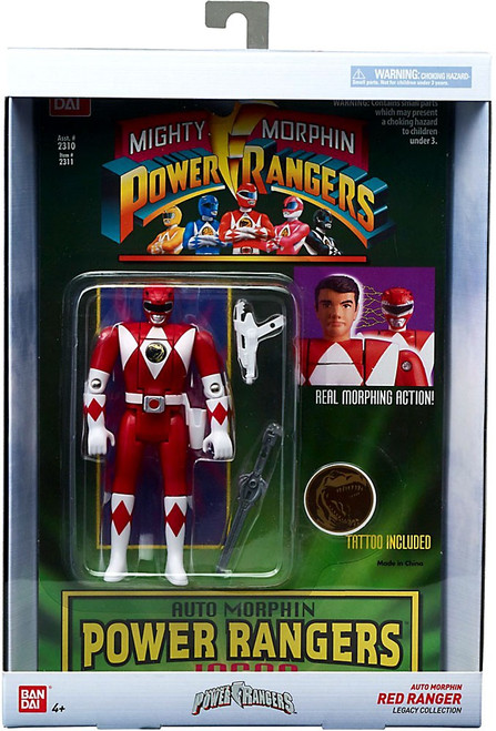 Power Rangers Mighty Morphin Legacy Red Ranger Action Figure [Auto Morphin]