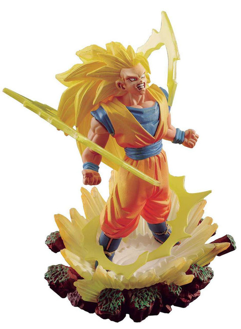 Dragon Ball Super Goku Memorial Super Saiyan 3 Son Goku 4-Inch PVC Figure Statue #03
