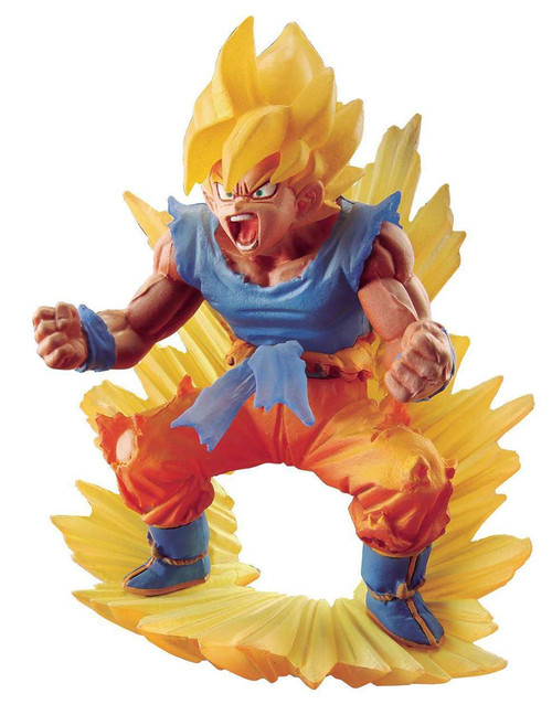 Dragon Ball Super Goku Memorial Super Saiyan Son Goku 4-Inch PVC Figure Statue #02