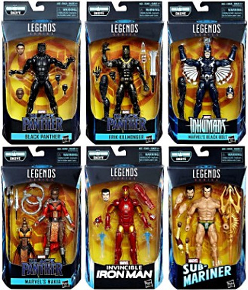 Black Panther Marvel Legends Okoye Series Set of 6 Action Figures