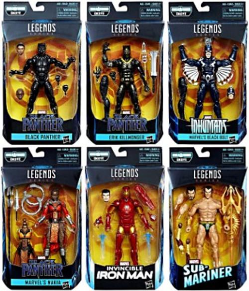 Black Panther Marvel Legends Okoye Series Set of 6 Action Figures