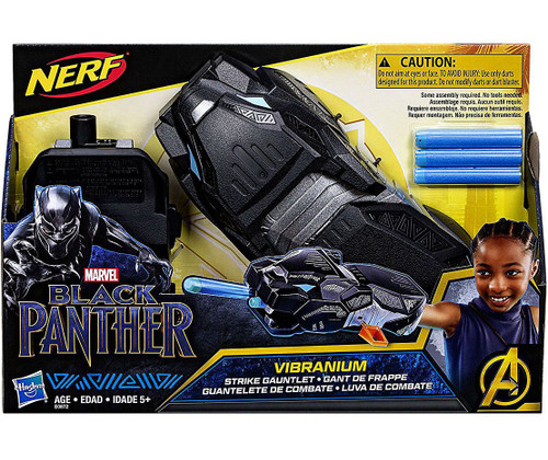 Marvel Black Panther Nerf Vibranium Strike Gauntlet Roleplay Toy