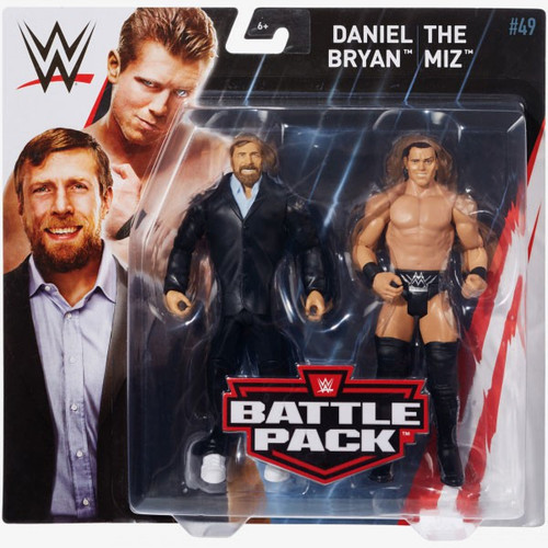 WWE Wrestling Battle Pack Series 49 Daniel Bryan & The Miz Action Figure 2-Pack