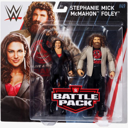 WWE Wrestling Battle Pack Series 49 Stephanie McMahon & Mick Foley Action Figure 2-Pack