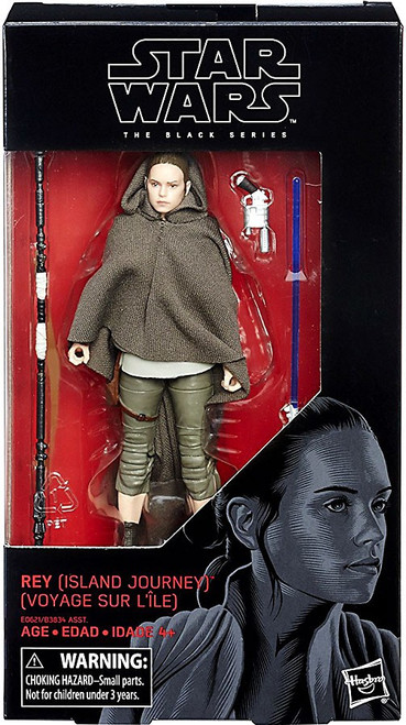 Star Wars The Last Jedi Black Series Rey Action Figure [Island Journey]
