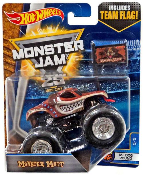 Hot Wheels Monster Jam 25 Monster Mutt Diecast Car #5/5 [MJ Dog Pound]