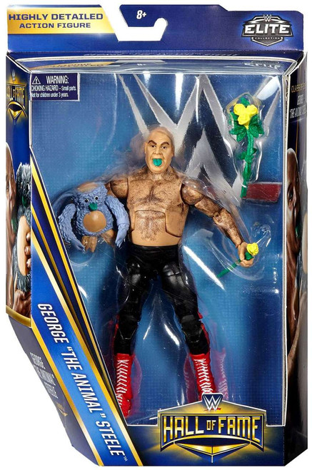 """WWE Wrestling Elite Collection Hall of Fame George """"The Animal"""" Steele Action Figure"""
