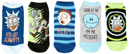 Rick & Morty Schwifty No Show Exclusive Socks 5-Pack