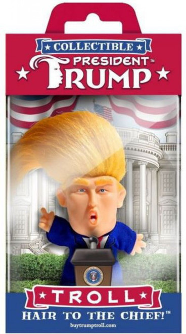 Political President Trump Troll 5-Inch Mini Doll Figure [Hair to the Chief!]