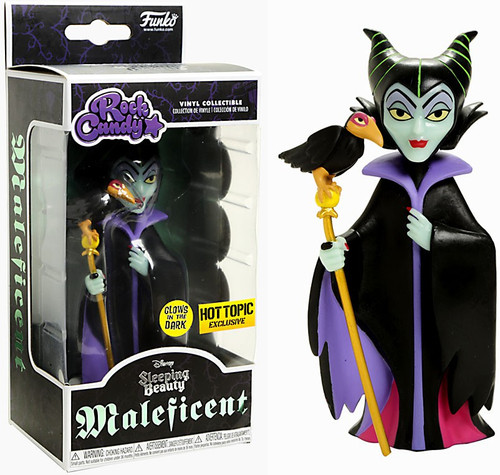 Funko Disney Sleeping Beauty Rock Candy Maleficent Exclusive Vinyl Figure [Glow-in-the-Dark]