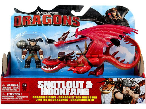 How to Train Your Dragon Dragons Dragon Riders Snotlout & Hookfang (Red) Action Figure 2-Pack