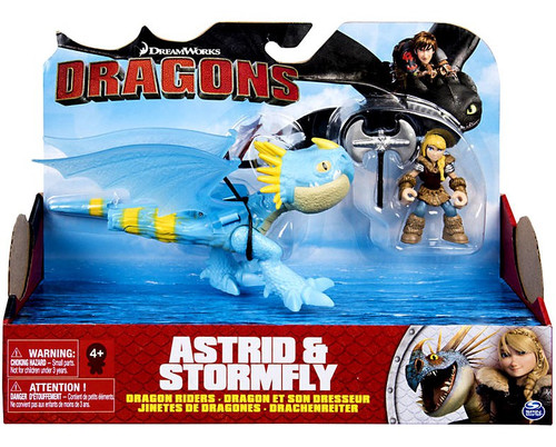 How to Train Your Dragon Dragons Dragon Riders Astrid & Stormfly Action Figure 2-Pack [Blue with White Jaw]