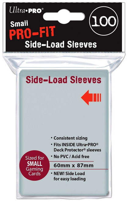 Ultra Pro Card Supplies Pro-Fit Clear Side-Load Small Card Sleeves [100 Count Pro-Fit]
