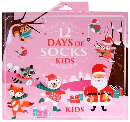 Girls 12 Days of Socks 12-Pack [Shoe Size 3-5T]