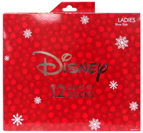 12 Days of Socks Ladies Disney 12-Pack [Shoe Size 4-10]