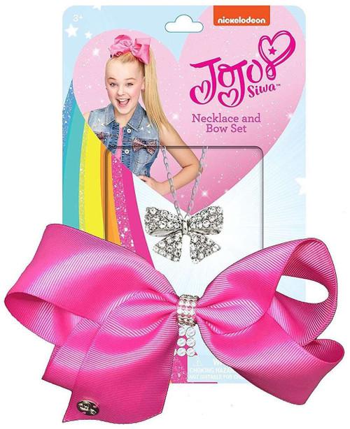 Nickelodeon JoJo Siwa Necklace & Bow Set [Pink]
