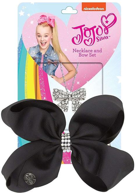 Nickelodeon JoJo Siwa Necklace & Bow Set [Black]
