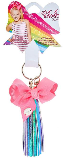 Nickelodeon JoJo Siwa Iridescent Tassel with Pink Bow Keychain