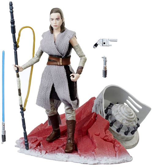 Star Wars The Last Jedi Black Series Rey on Crait Exclusive Action Figure [Jedi Training ]