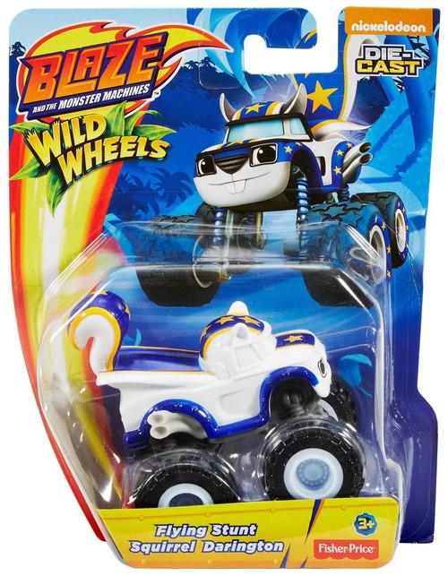Fisher Price Blaze & the Monster Machines Nickelodeon Wild Wheels Flying Stunt Squirrel Darlington Diecast Car