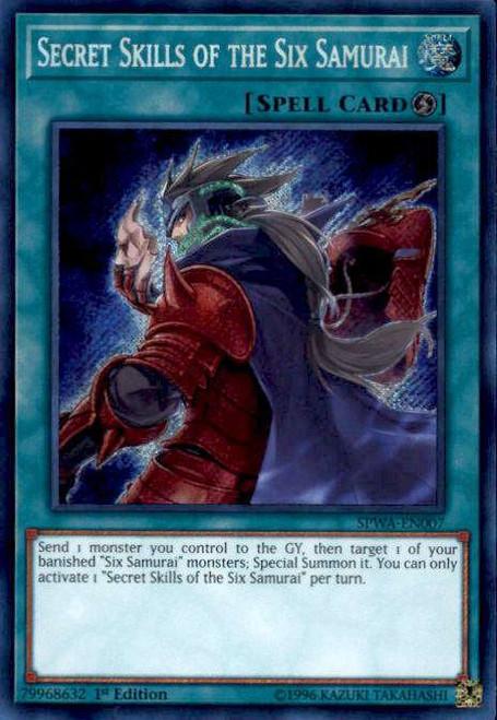 YuGiOh Spirit Warriors Secret Rare Secret Skills of the Six Samurai SPWA-EN007