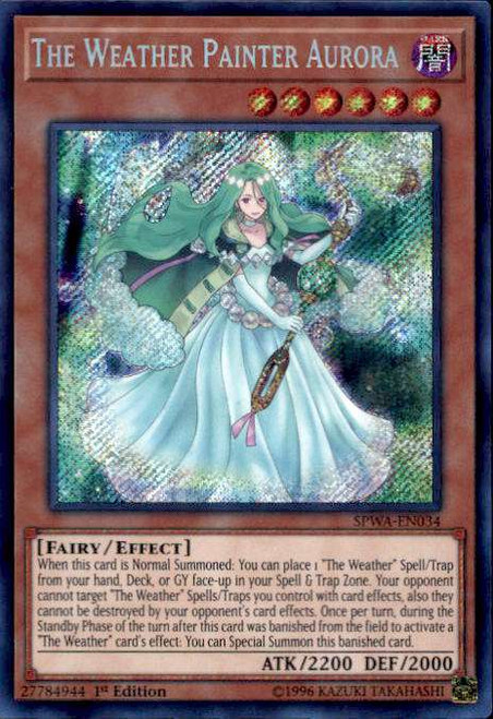 SPWA-EN032 Yugioh CardThe Weather Painter Sun Secret Rare 1st Edition NM