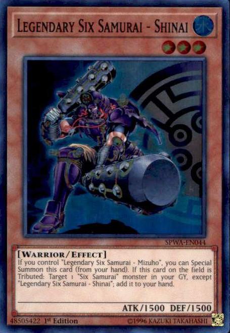 YuGiOh Spirit Warriors Super Rare Legendary Six Samurai - Shinai SPWA-EN044