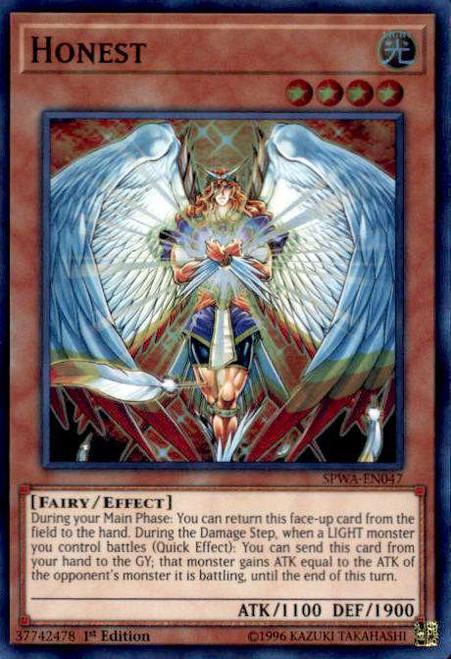 YuGiOh Spirit Warriors Super Rare Honest SPWA-EN047