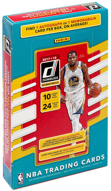 NBA Panini 2017-18 Donruss Basketball Trading Card HOBBY Box [24 Packs, 1 Autograph OR Memorabilia Card!]