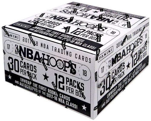 NBA Panini 2017-18 Hoops Basketball Trading Card VALUE Box [12 Packs]