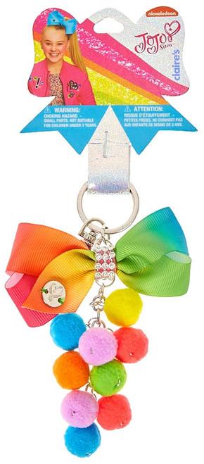 Nickelodeon JoJo Siwa Bow Pom Pom Keychain